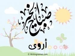 إسم أروى مكتوب على صور صباح الخير بالعربي