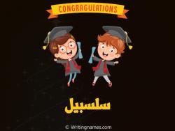 إسم سلسبيل مكتوب على صور مبروك النجاح بالعربي